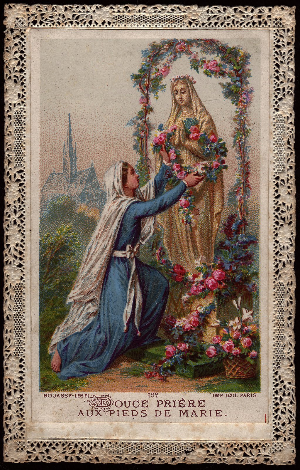 Douce prière aux pieds de Marie dans images sacrée sweet-prayer-at-the-feet-of-mary-dkr-bouasse-lebel