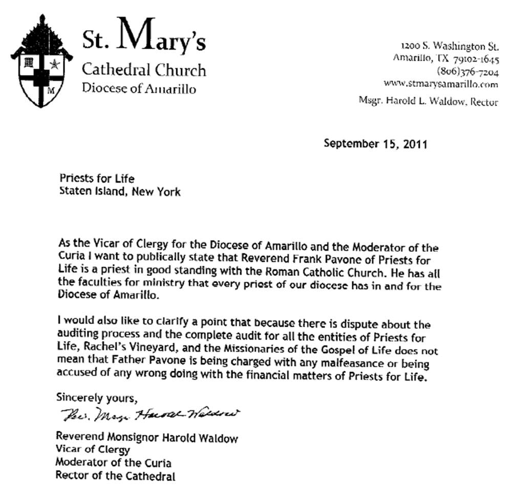 Sample Letter To Priest For Mass