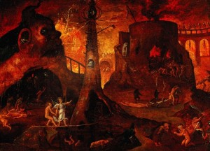 Art-Painting-Mythology-Hell-probably-Italian