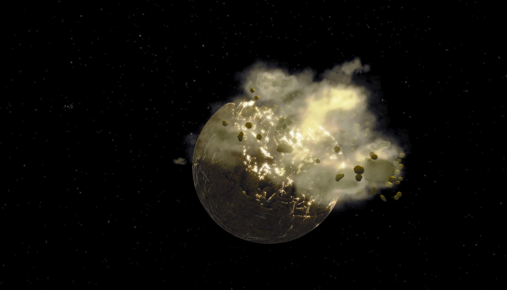 asteroid in space blowing up - photo #19