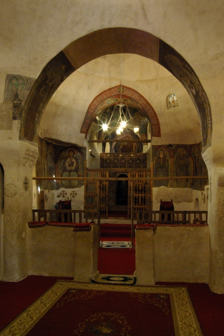 11th century chapel at St. Anthony monastery in Egypt. The monastery was founded in AD 356