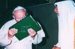 Pope John Paul II Kissing Koran