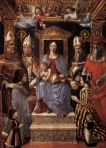 Madonna and Child with Doctors of the Church_UNKNOWN MASTER, Italian