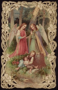 untitles angels and children in woods
