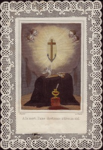 At death, the Christian souls rises to Heaven (we pray).