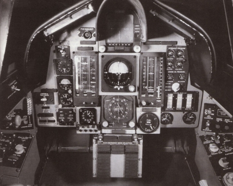 Proposed front cockpit for production F-12B - very similar to F-108, and very advanced for its day