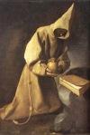 381_ blog  St Francis Meditation kneeling skull Bible F_ de Zurbaran