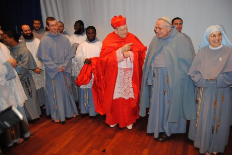 Fr. Manelli with Cardinal Burke in happier times