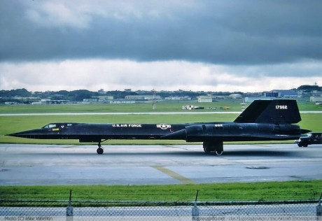 SR-71 of Det. 9 at Kadena AB, Okinawa. Blackbirds were affectionately known as Habu, the Okinawan name for a very nasty poisonous snake