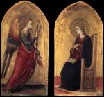 The Angel and the Virgin of Annunciation - Bicci di Lorenzo - 1434