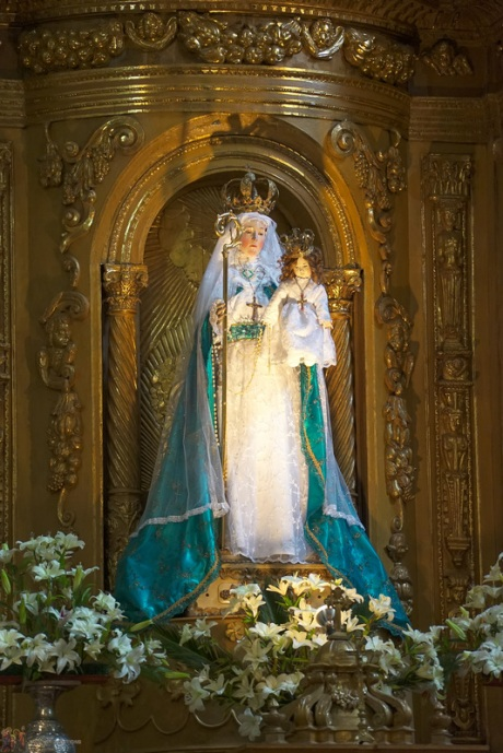 Miraculous statue of Our Lady of Good Success.  It is available for veneration only three times a year.