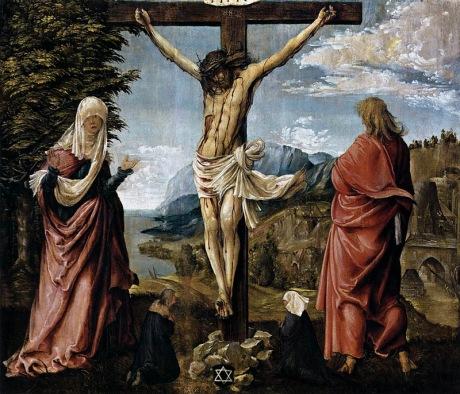Christ on Cross between Mary and St_ John_ALTDORFER, Albrecht