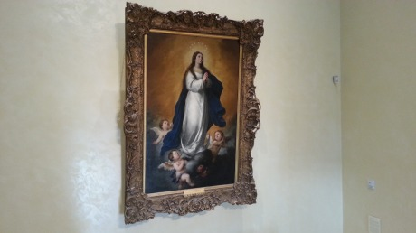 Huge painting of Our Lady Queen of Heaven