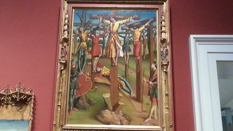 Again, what is this scene?   A mass crucifixion?  When?  The work is from 15th century