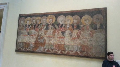 Last Supper.  Note Judas