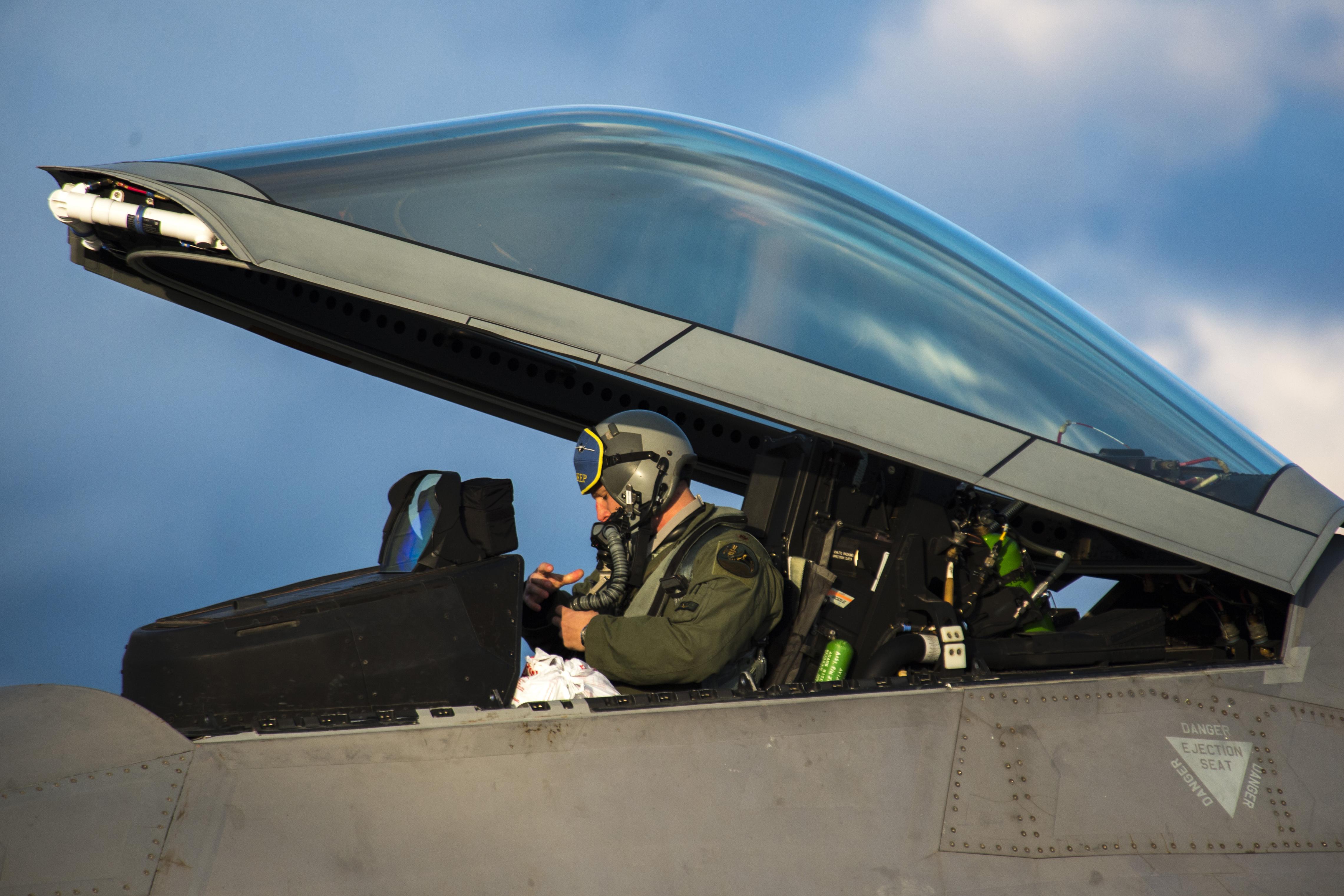 Flightline Friday: Raptors make first European deployment ... Usaf Fighter Pilot F 22