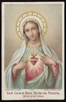Heart of Mary, Refuge of Sinners, pray for us Bouasse Lebel