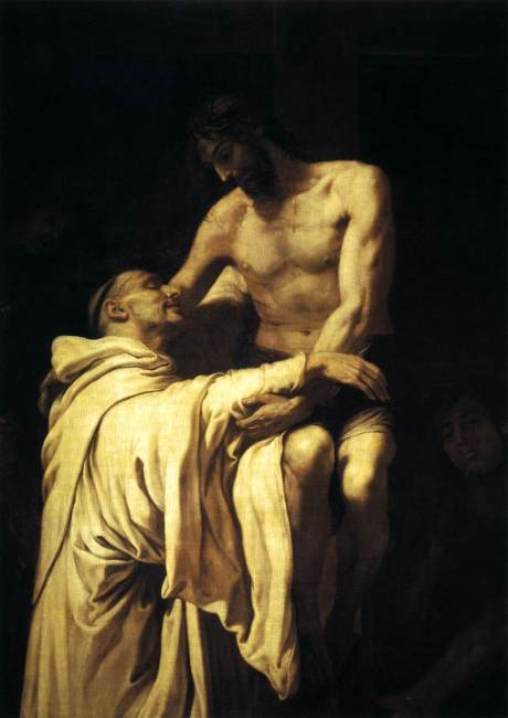Francisco_Ribalta_-_Christ_Embracing_St_Bernard_-_WGA19350