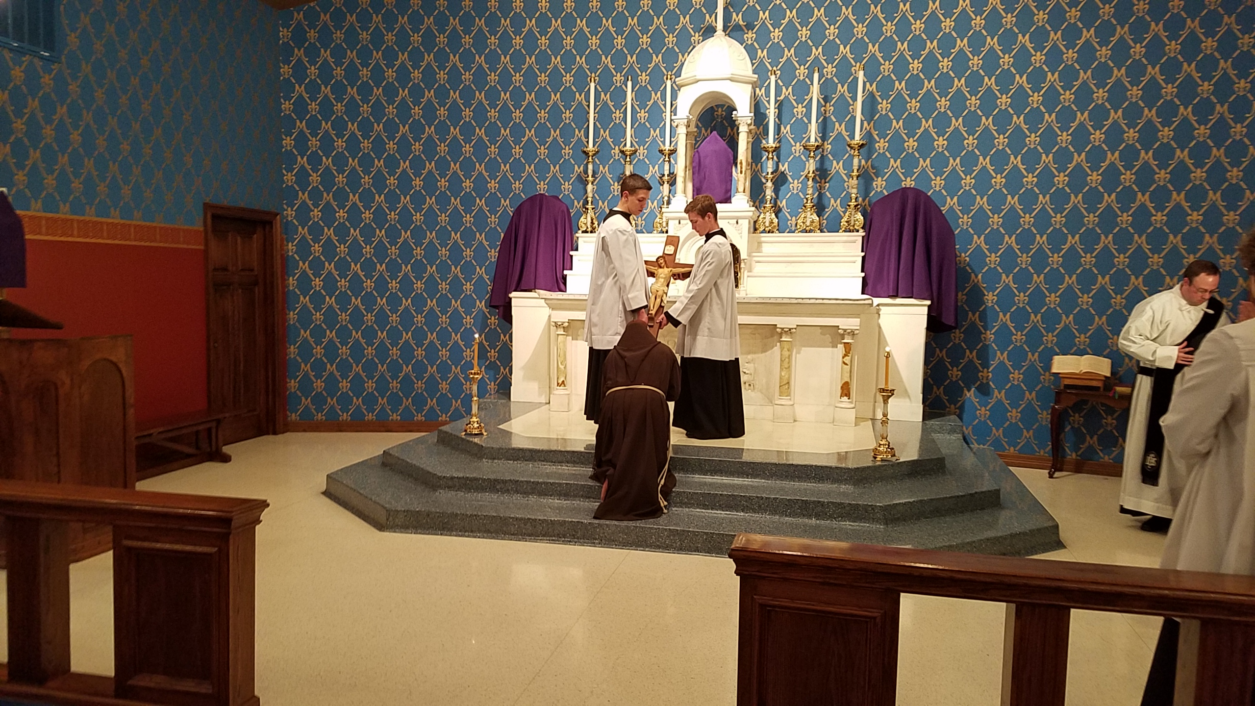 a blog for dallas area catholics it was nice having a religious priest present during holy week